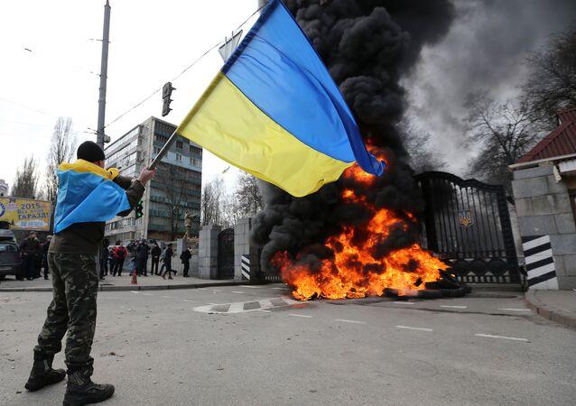 Protestos na Ucrânia. Foto de arquivo