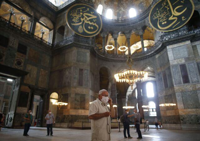 Hagia Sophia, a Basílica de Santa Sofia, em Istambul, na Turquia