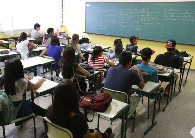 Sala de aula da Escola Estadual Antônio Vieira de Souza, em Guarulhos, São Paulo (arquivo)