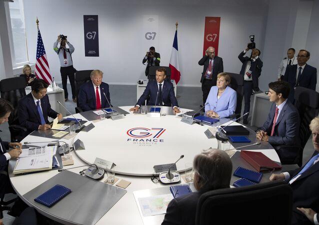 Líderes do países do G7 se reúnem na França em 2019