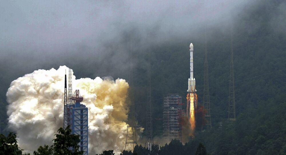 Foguete do Sistema de Navegação por Satélite Beidou é lançado na China (imagem referencial)