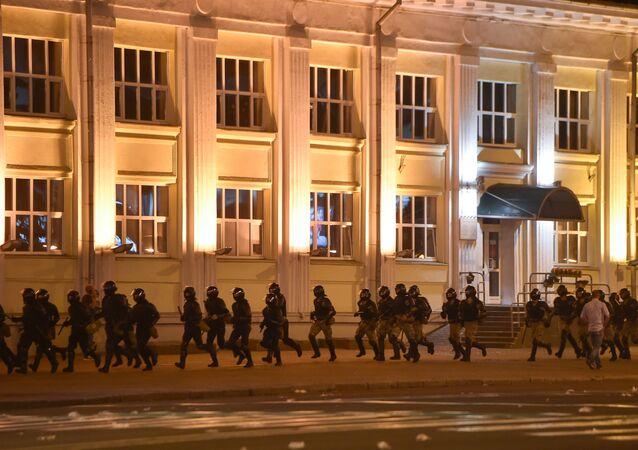Protestos após as eleições presidenciais na Bielorrússia.