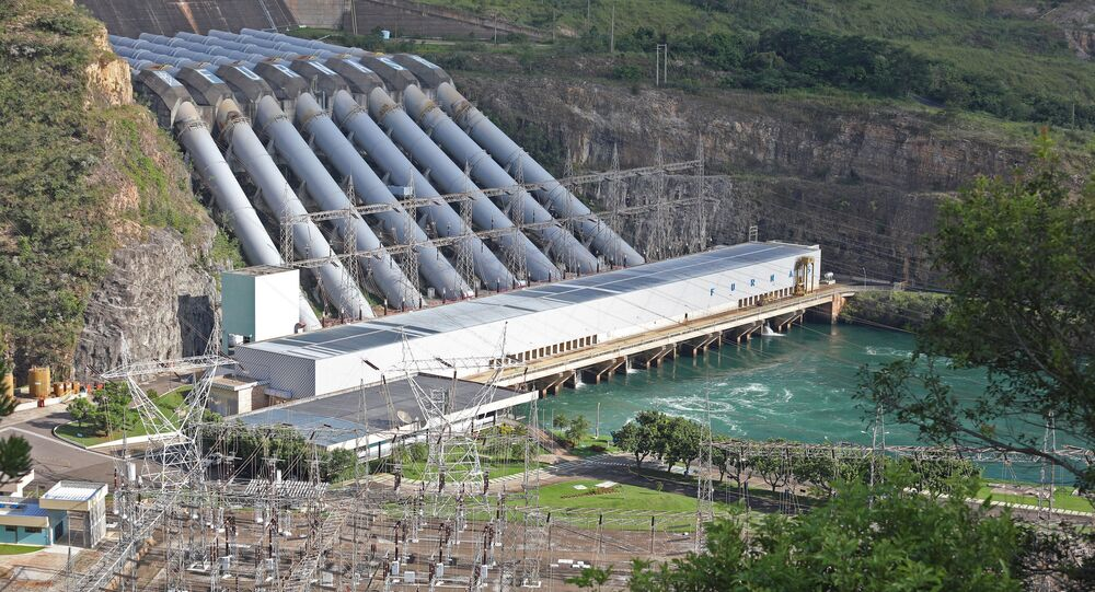 Usina Hidrelétrica de Furnas, no Rio Grande, em Minas Gerais