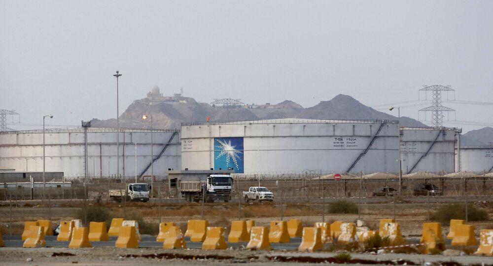 Instalação petrolífera da empresa Saudi Aramco