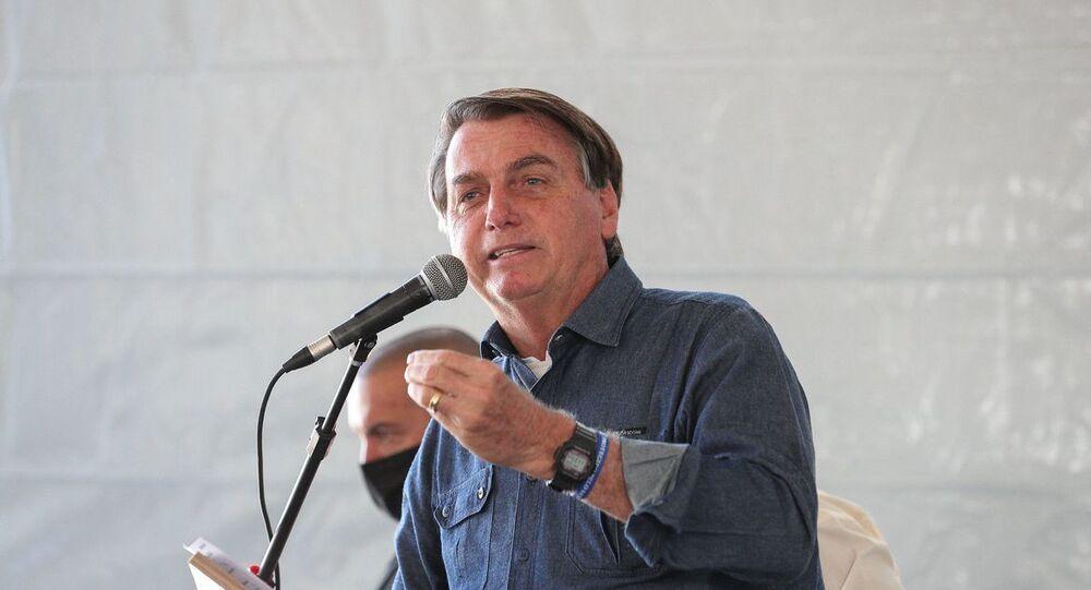 Bolsonaro participa de lançamento de usina de energia em Caldas Novas, Goiás (foto de arquivo)