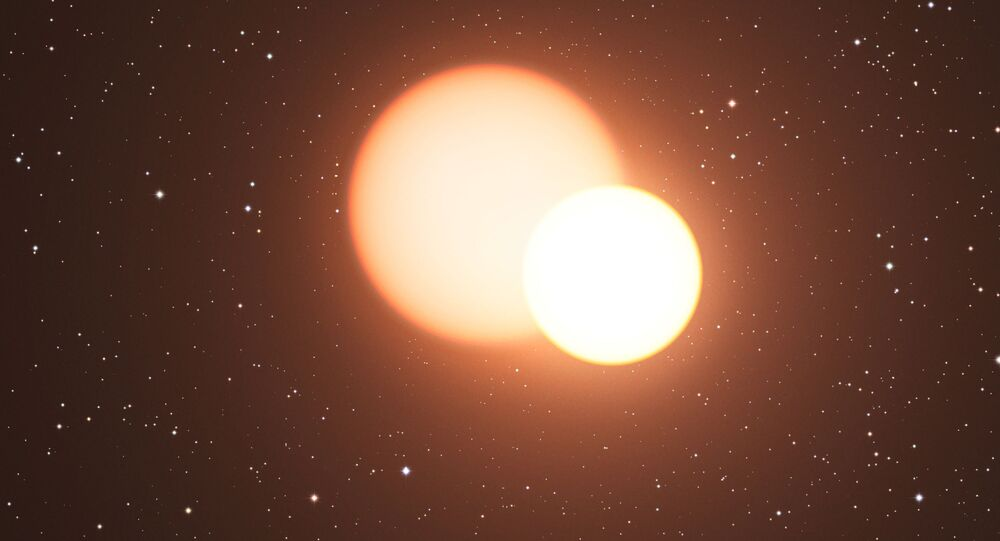 Uma estrela binária (imagem referencial)