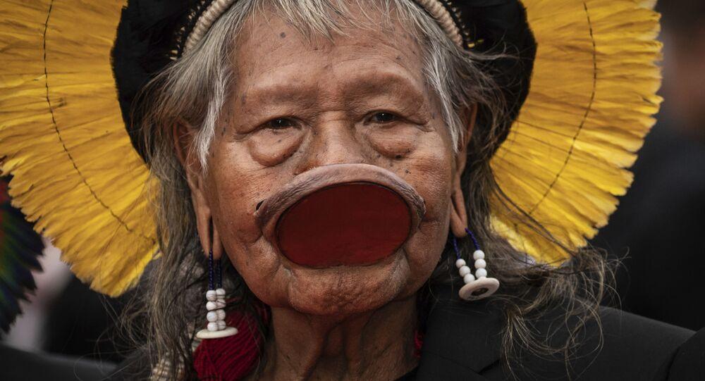 O líder do povo Kayapó, Raoni Metuktire.