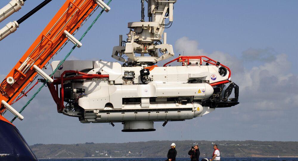 Um minisubmarino (imagem referencial)