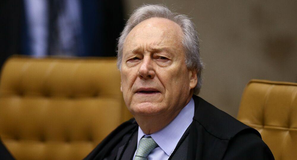 Ministro Ricardo Lewandowski durante sessão no plenário do STF (Supremo Tribunal Federal)