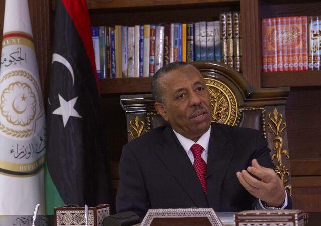 Líder do governo sediado em Benghazi, no leste da Líbia, Abdullah Thani
