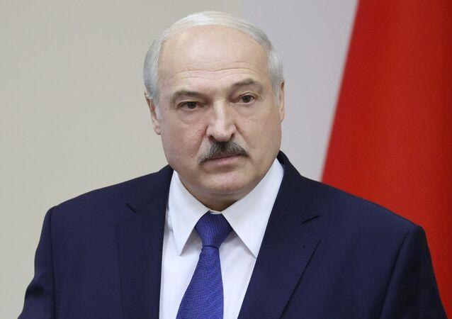 Presidente da Belarus, Aleksandr Lukashenko (foto de arquivo)