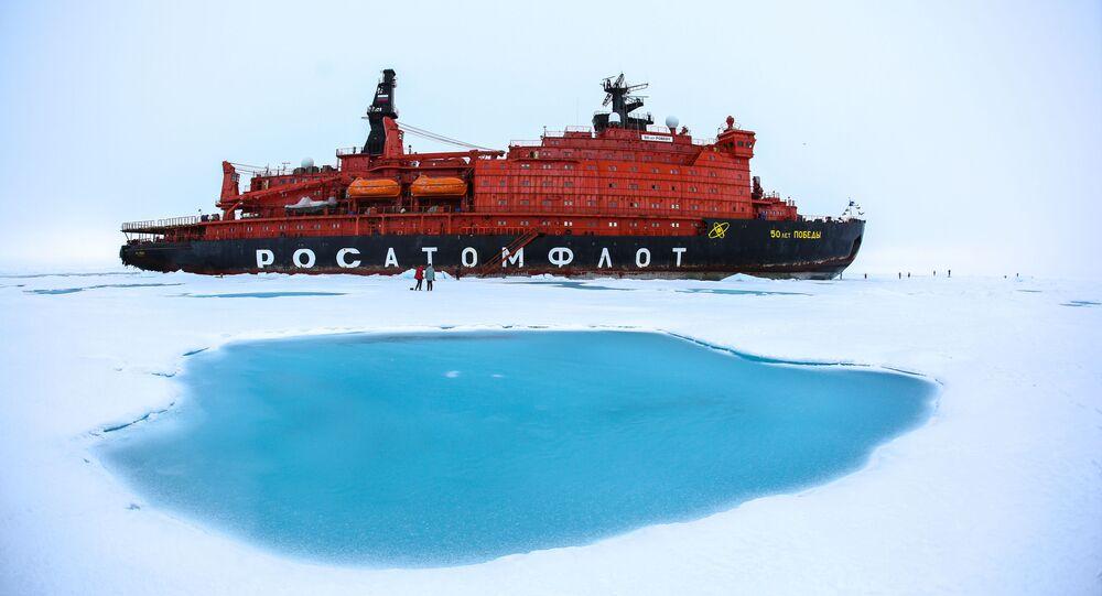Quebra-gelo nuclear 50 Let Pobedy no Polo Norte