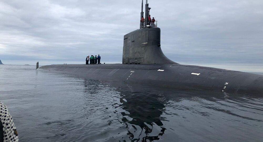Submarino de ataque USS Seawolf da Marinha dos EUA (foto de arquivo)