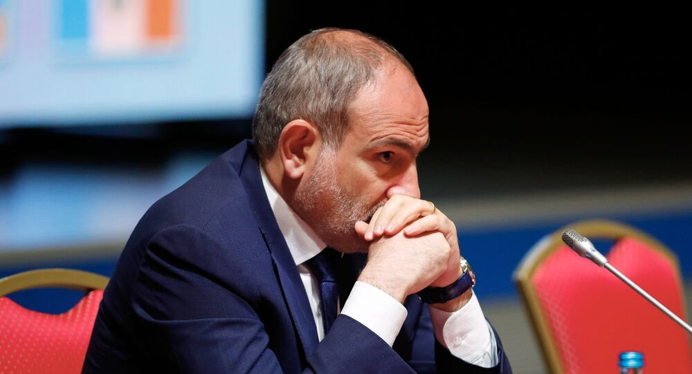 O premiê da Armênia, Nikol Pashinyan.