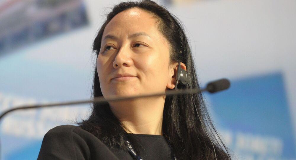Diretora financeira da empresa chinesa Huawei, Meng Wanzhou (foto de arquivo)
