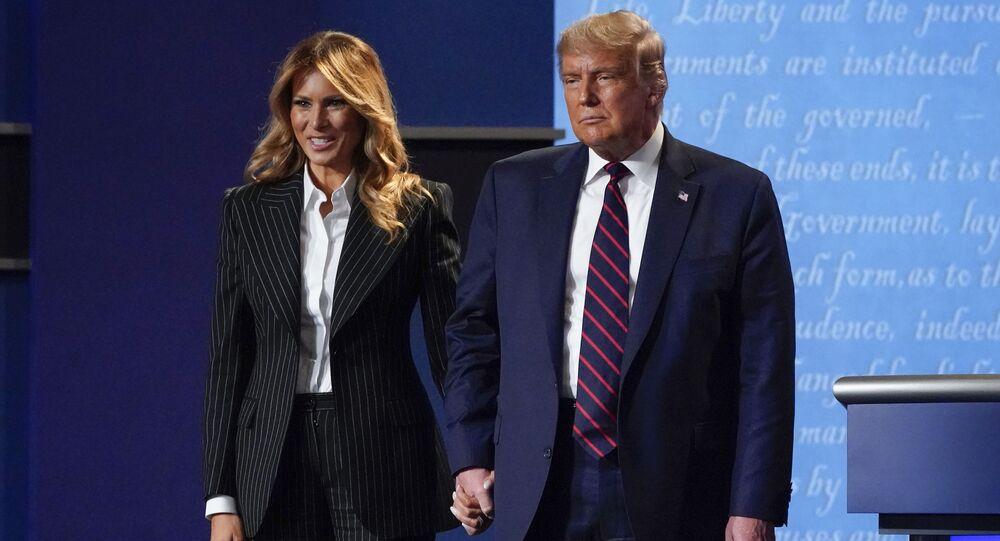 O presidente dos Estados Unidos Donald Trump e a primeira-dama Melania Trump.