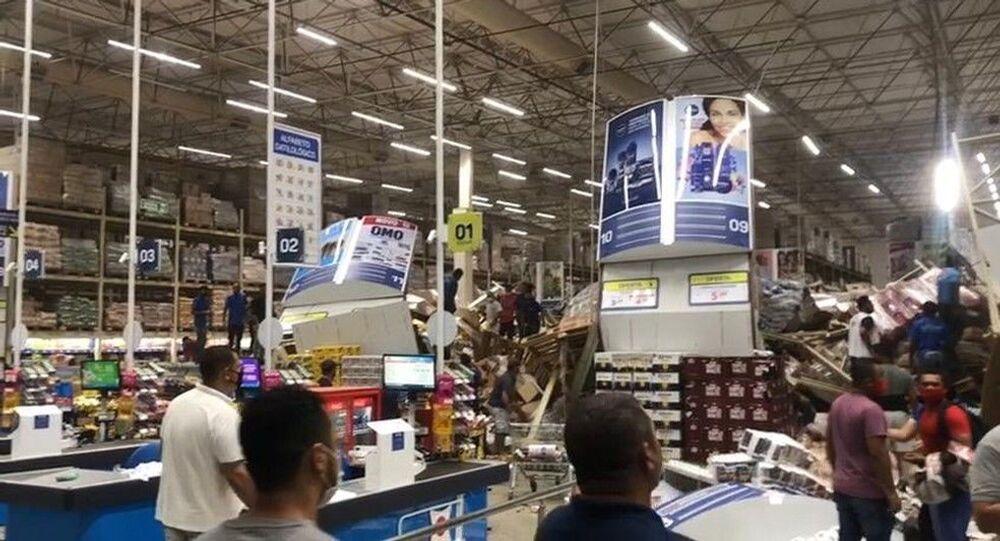 Desabamento em supermercado no Maranhão