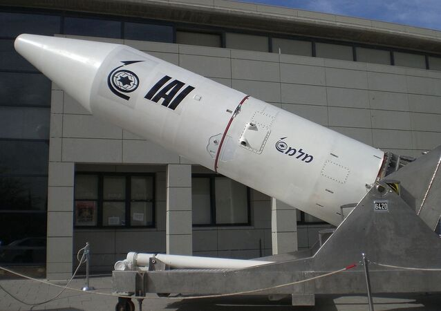 Terceira fase do veículo de lançamento espacial israelense Shavit
