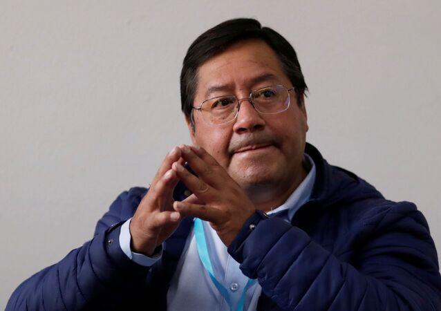 Luis Arce, candidato do MAS à presidência da Bolívia