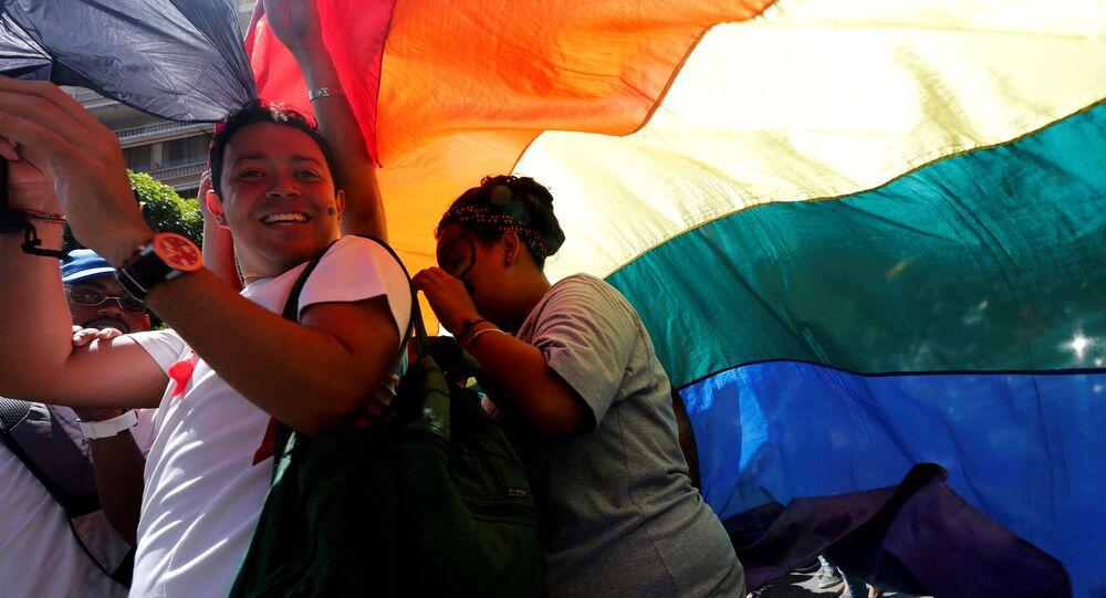 Parada gay em Caracas, na Venezuela
