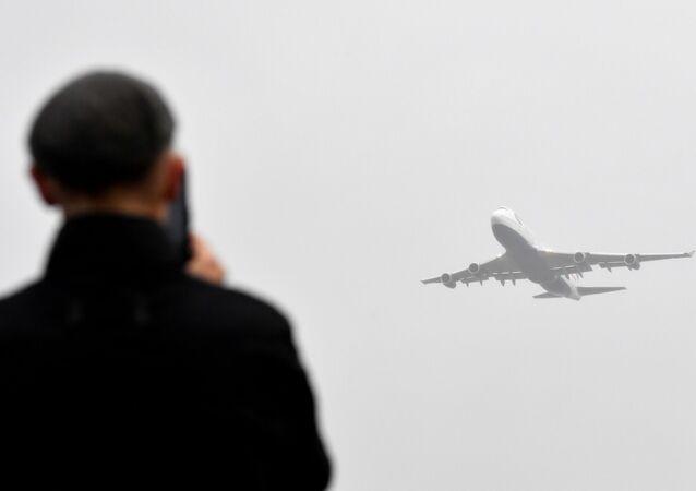 Avião Boeing 747 (imagem referencial)