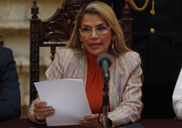 Jeanine Áñez, antiga presidente interina da Bolívia