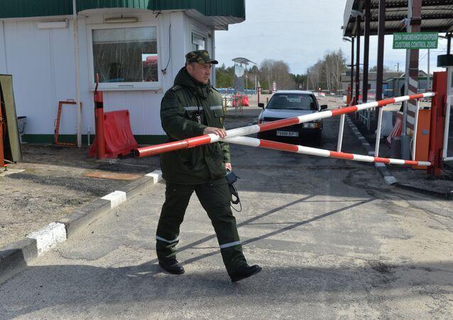 Fronteira entre Bielorrússia e Ucrânia (foto de arquivo)