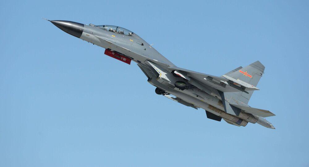 Caça J-11B da Força Aérea do Exército de Libertação Popular (ELP)