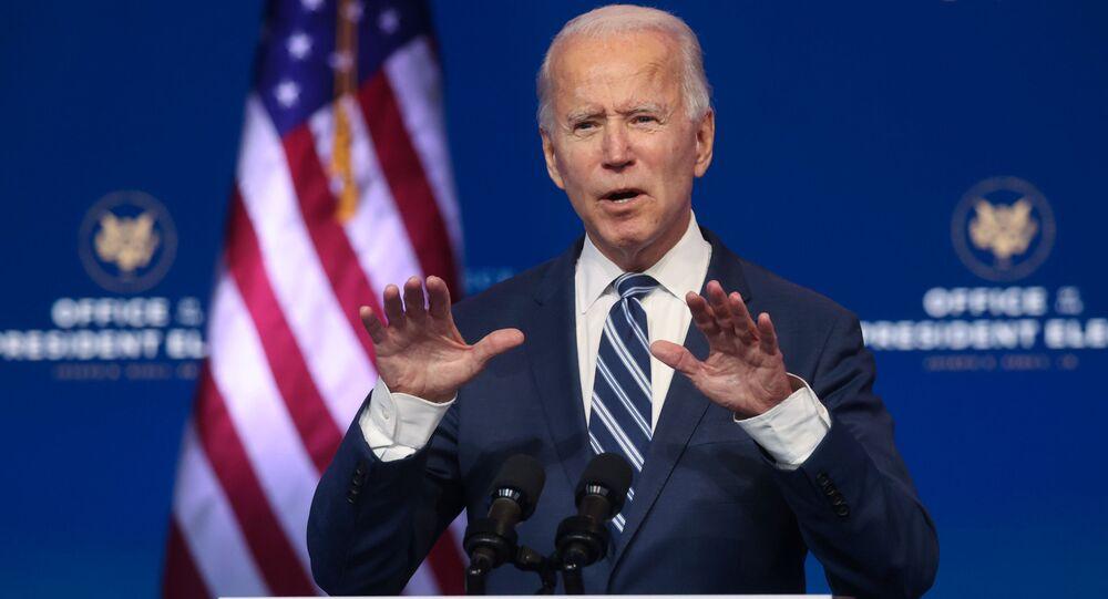 Presidente eleito dos Estados Unidos, o democrata Joe Biden, faz discurso em Delaware