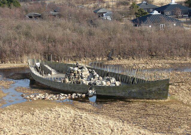 Barco viking na Dinamarca