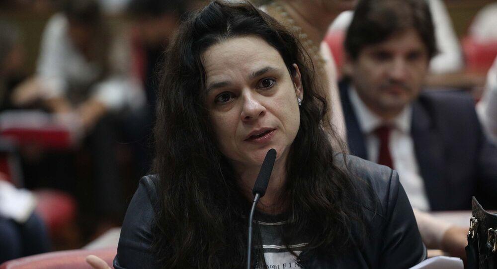 Deputada estadual Janaina Paschoal (PSL-SP), na Assembleia Legislativa de São Paulo (Alesp)