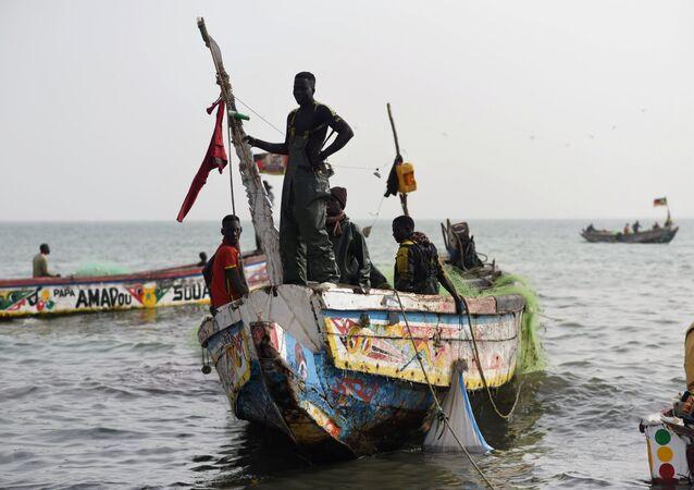Pescadores do Senegal