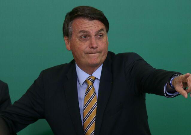 Presidente Jair Bolsonaro durante evento alusivo aos 54 anos da Embratur, em Brasília