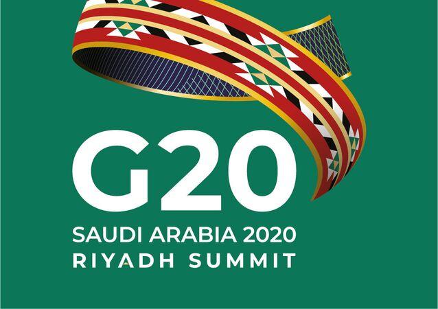 Logotipo da presidência da Conferência de Líderes do G20, a ser realizada entre os dias 21 e 22 de novembro sob a presidência da Arábia Saudita