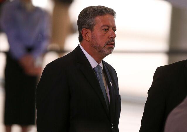 O deputado Arthur Lira (PP-AL) no Congresso, em Brasília