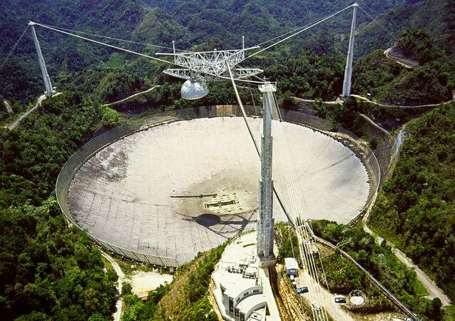 Radiotelescópio de Arecibo em Puerto Rico