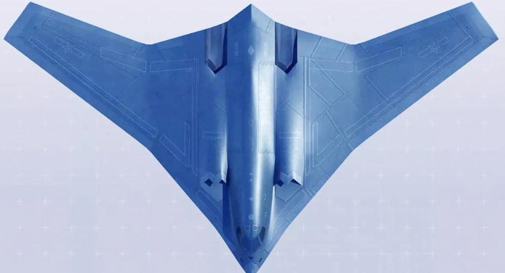 Representação artística do bombardeiro chinês Xian H-20