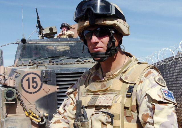 Soldados australianos da Força Internacional de Apoio à Segurança na província de Uruzgan, no Afeganistão