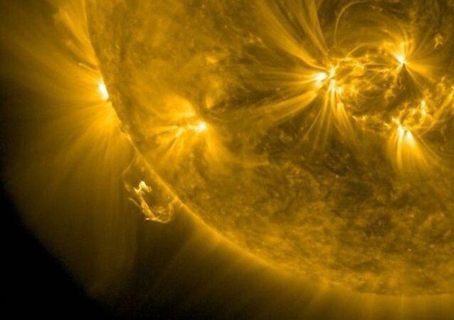 Erupção solar mais potente dos últimos três anos