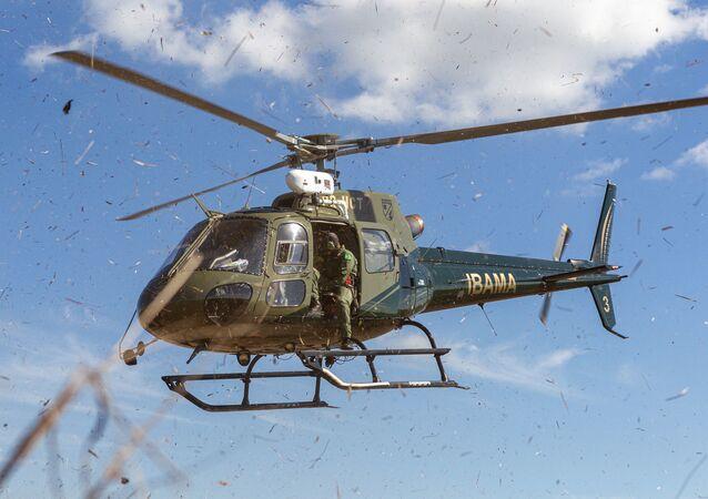 Helicóptero do Ibama (imagem referencial).