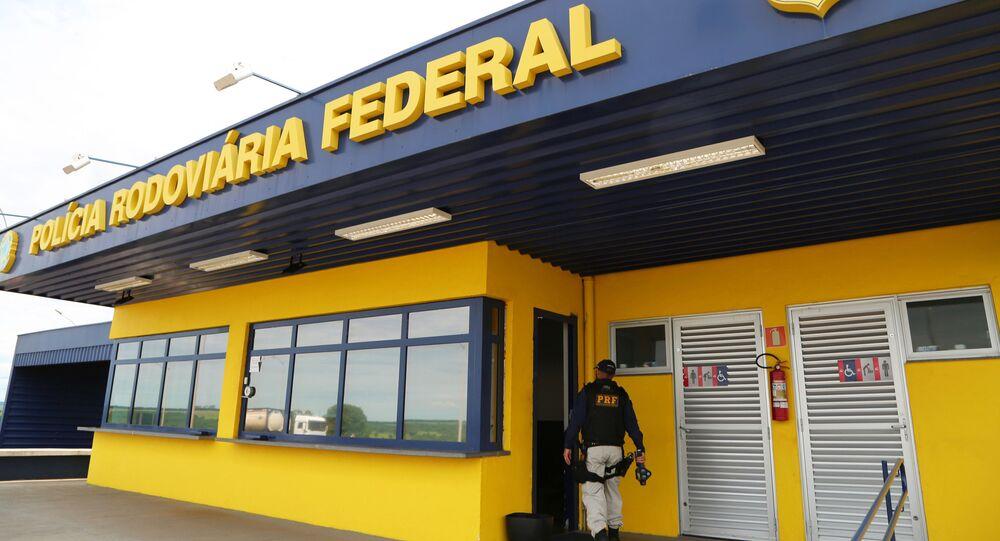 Fachada de posto da PRF (Polícia Rodoviária Federal) em Uberaba (MG).