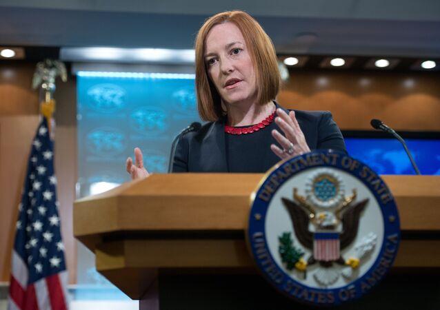 Jen Psaki, futura secretária de imprensa da Casa Branca