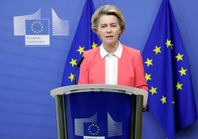 A alemã Ursula von der Leyen, presidente da Comissão Europeia