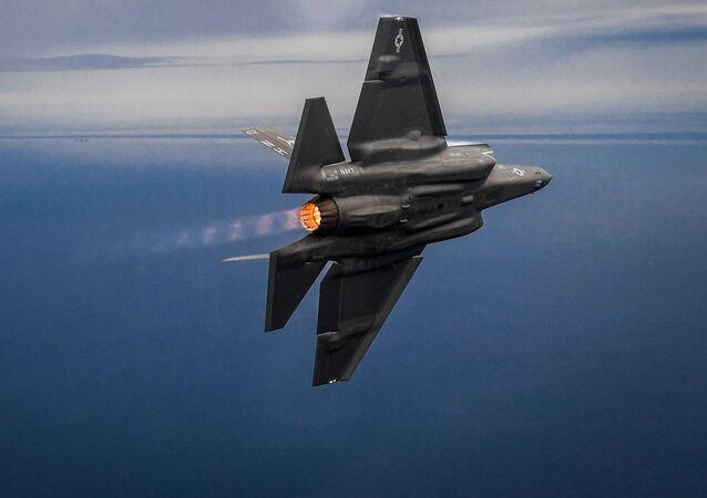 Um caça F-35 (foto de arquivo)