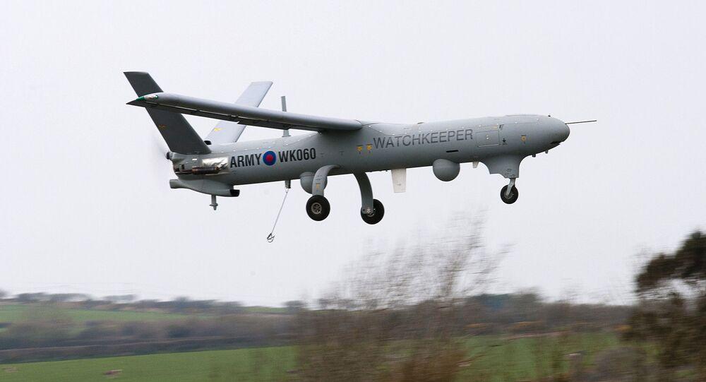 Drone britânico Watchkeeper (imagem referencial)