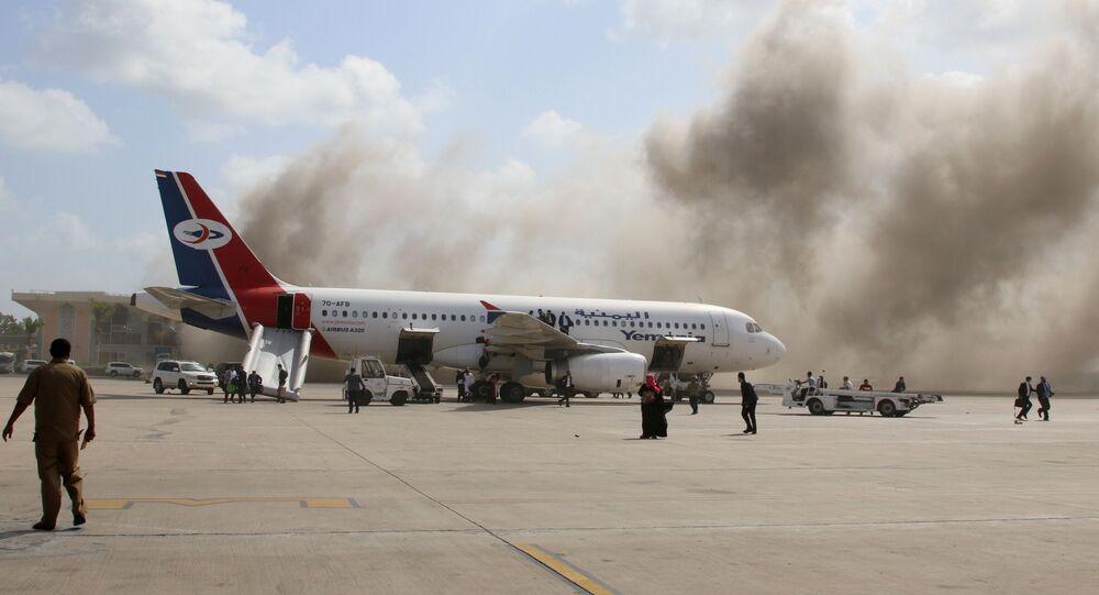 Ataque ao aeroporto de Aden, no Iêmen, deixa dezenas de mortos e feridos, no dia 30 de dezembro de 2020.
