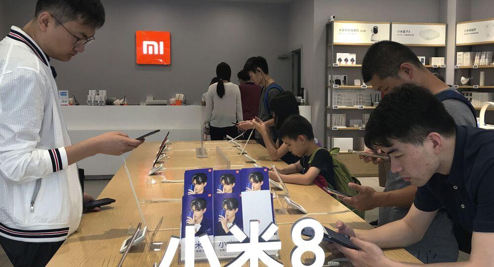 Stand da Xiaomi em Pequim, a empresa é famosa por ter forte presença no mercado de telefonia celular