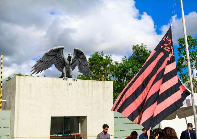 Incêndio atinge alojamento do Flamengo, o Ninho do Urubu, no dia 8 de fevereiro de 2019.