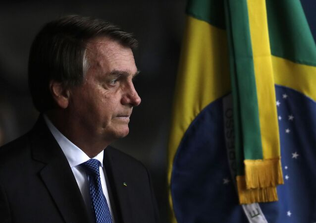 O presidente Jair Bolsonaro durante evento em Brasília