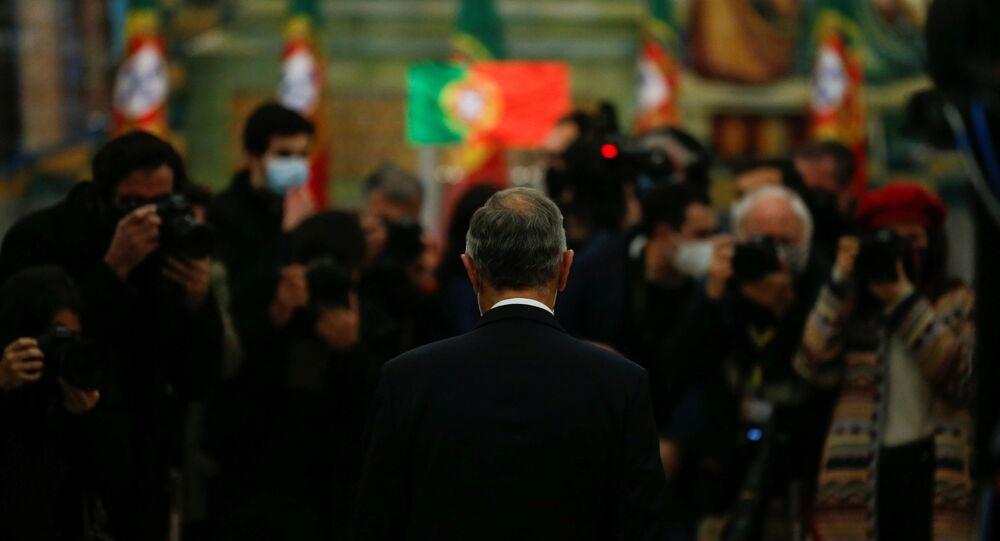 Presidente reeleito de Portugal, Marcelo Rebelo de Sousa, após eleições de 24 de janeiro de 2021